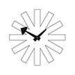 george_nelson_asterisk_clock_white
